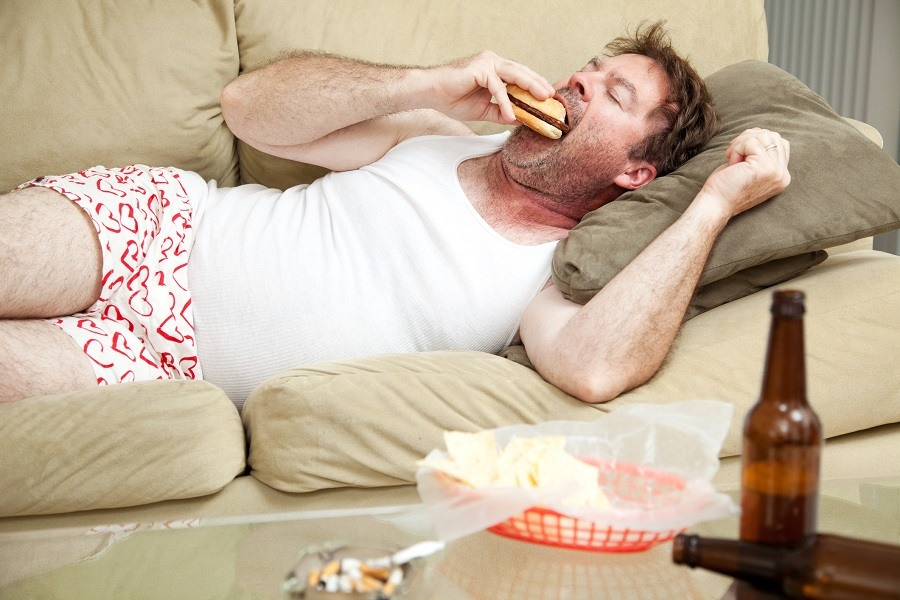 Drunk eating burger
