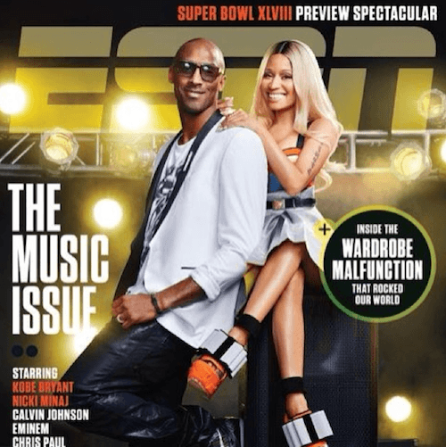 Nicki Minaj on ESPN Magazine with Kobe Bryant.