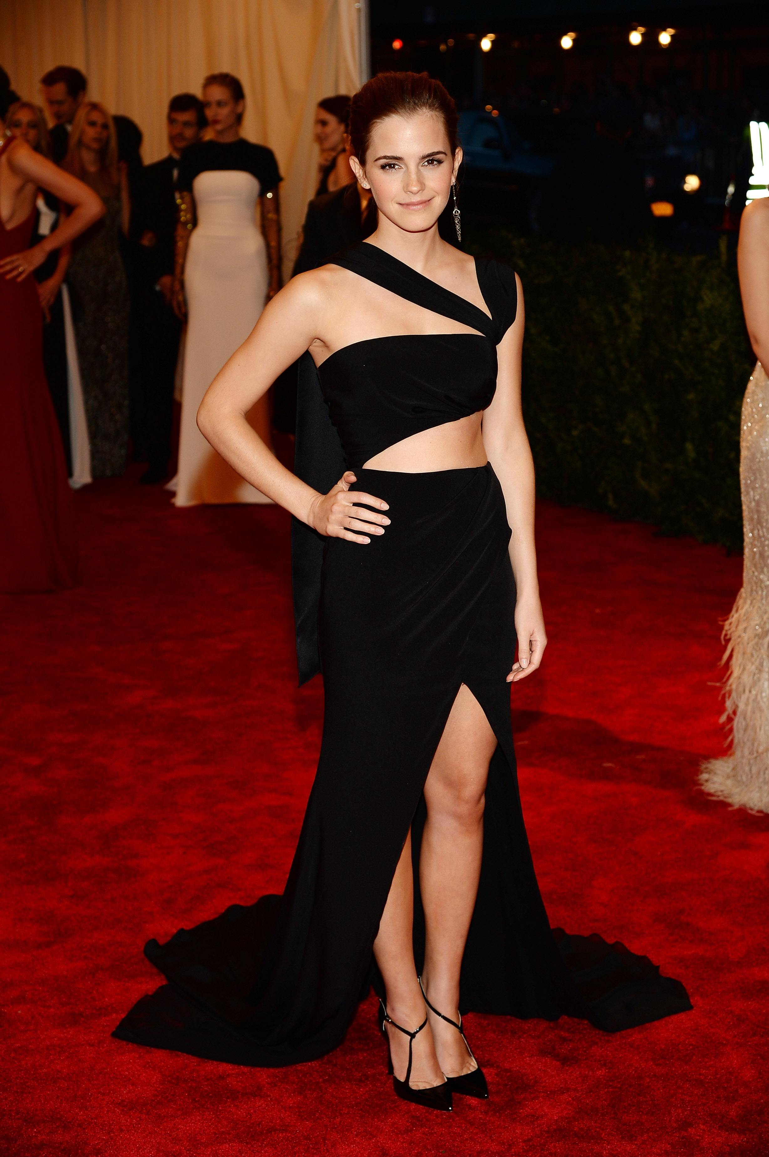 """Emma Watson at Met Gala """"PUNK: Chaos To Couture"""" Costume Institute Gala"""