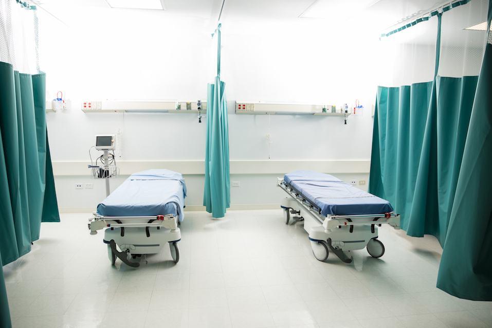Empty emergency room in a hospital