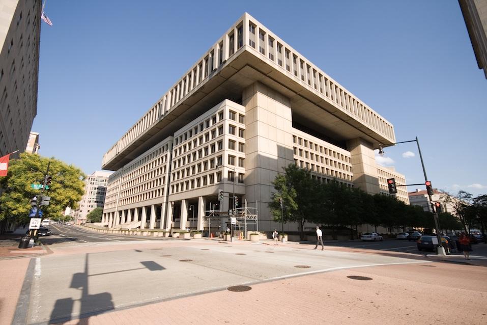 Federal Bureau of Investigation FBI Building Washington DC, Blue Sky