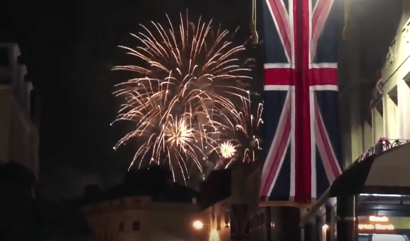 Fireworks royal wedding