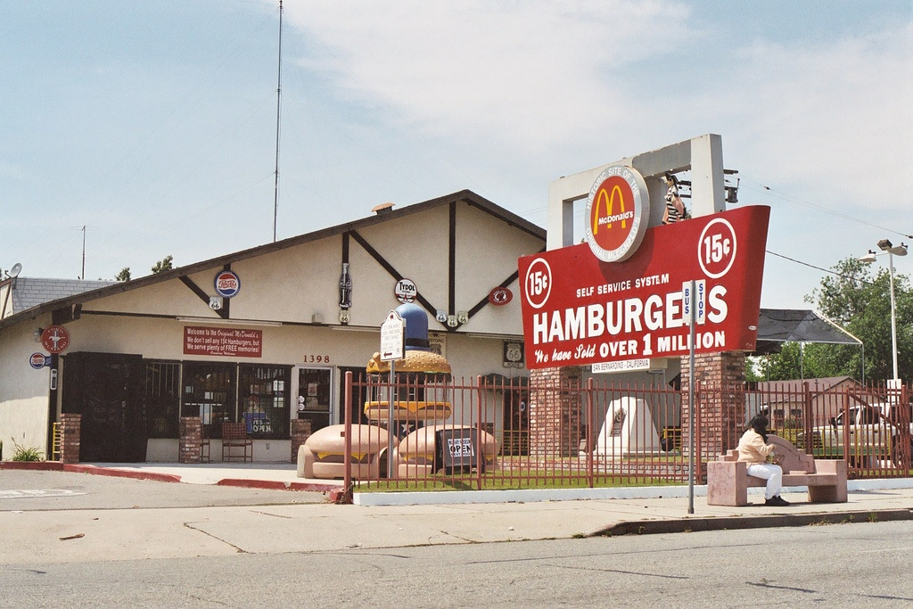 First McDonald's location in San Bernardino, California