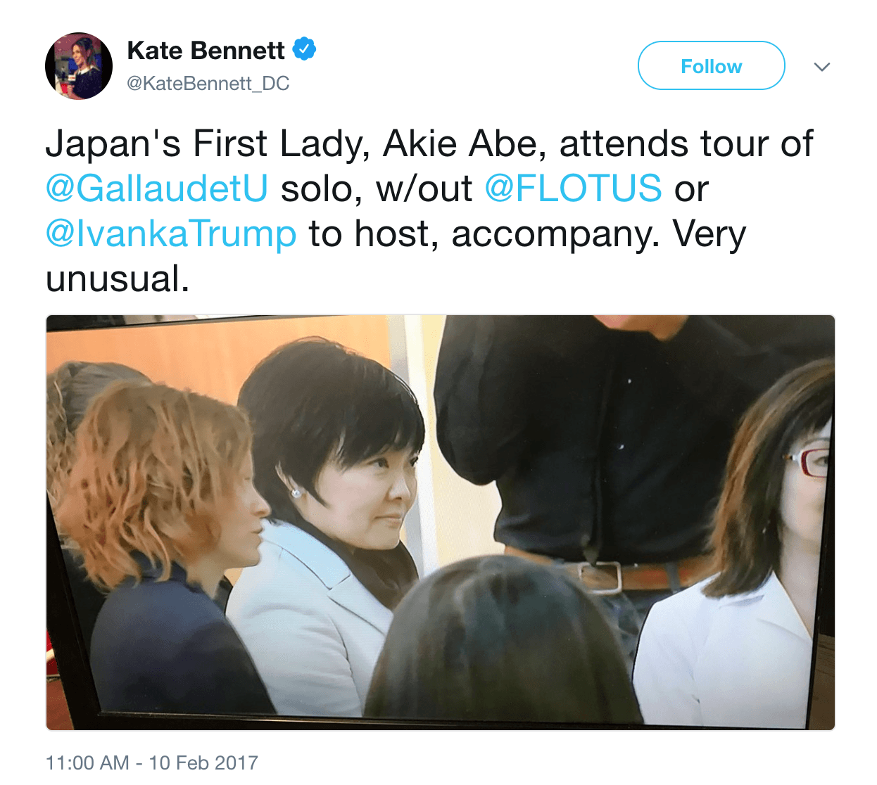 First lady japan alone