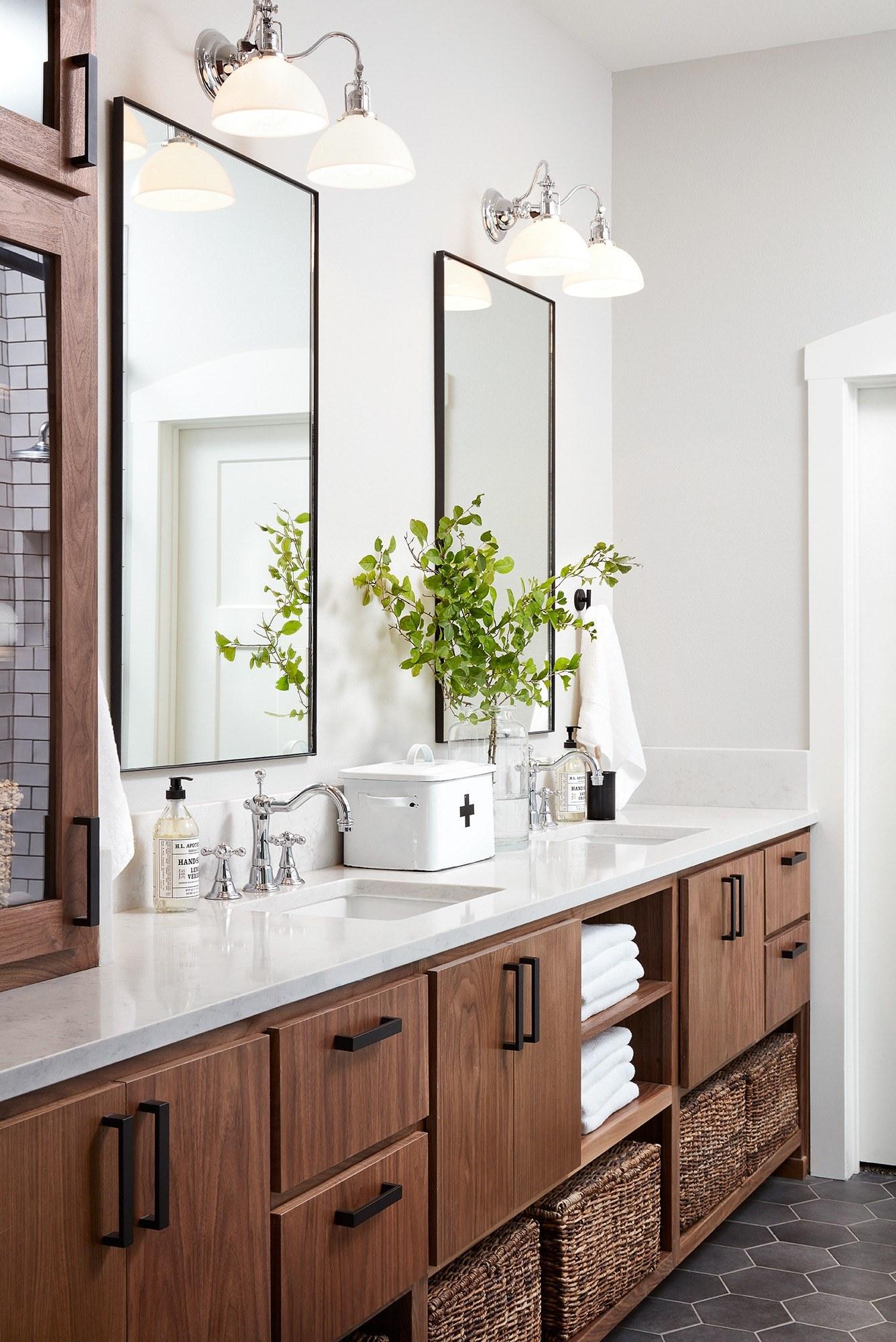 Fixer upper double vanity