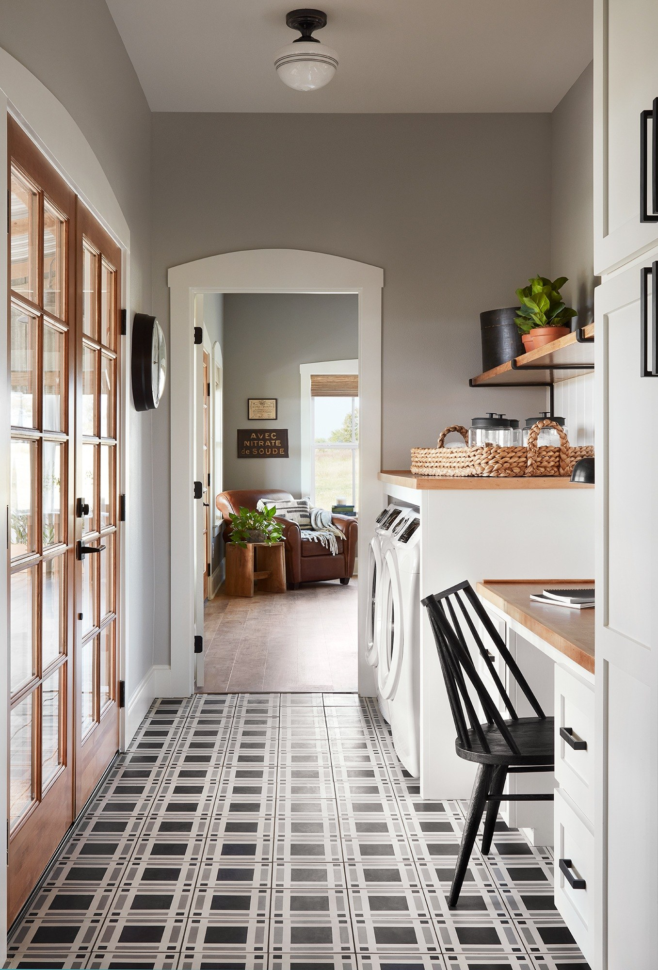 Fixer upper laundry room creative space