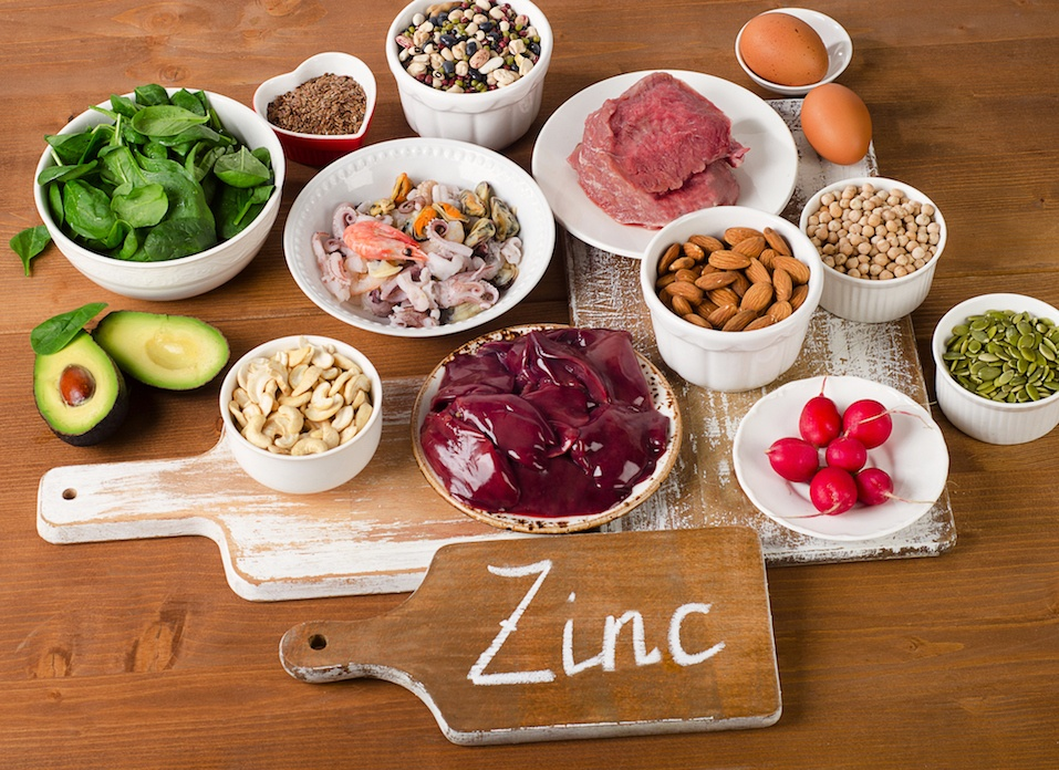 Foods with Zinc mineral