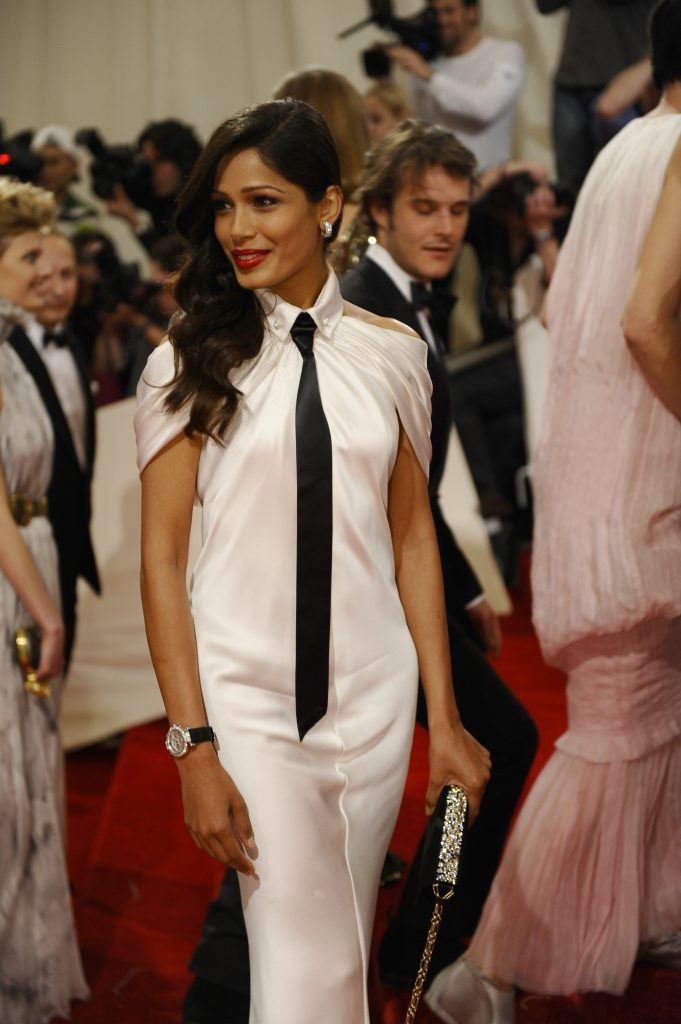 Freida Pinto attends the 'Alexander McQueen: Savage Beauty' Costume Institute Gala at The Metropolitan Museum of Art on May 2, 2011