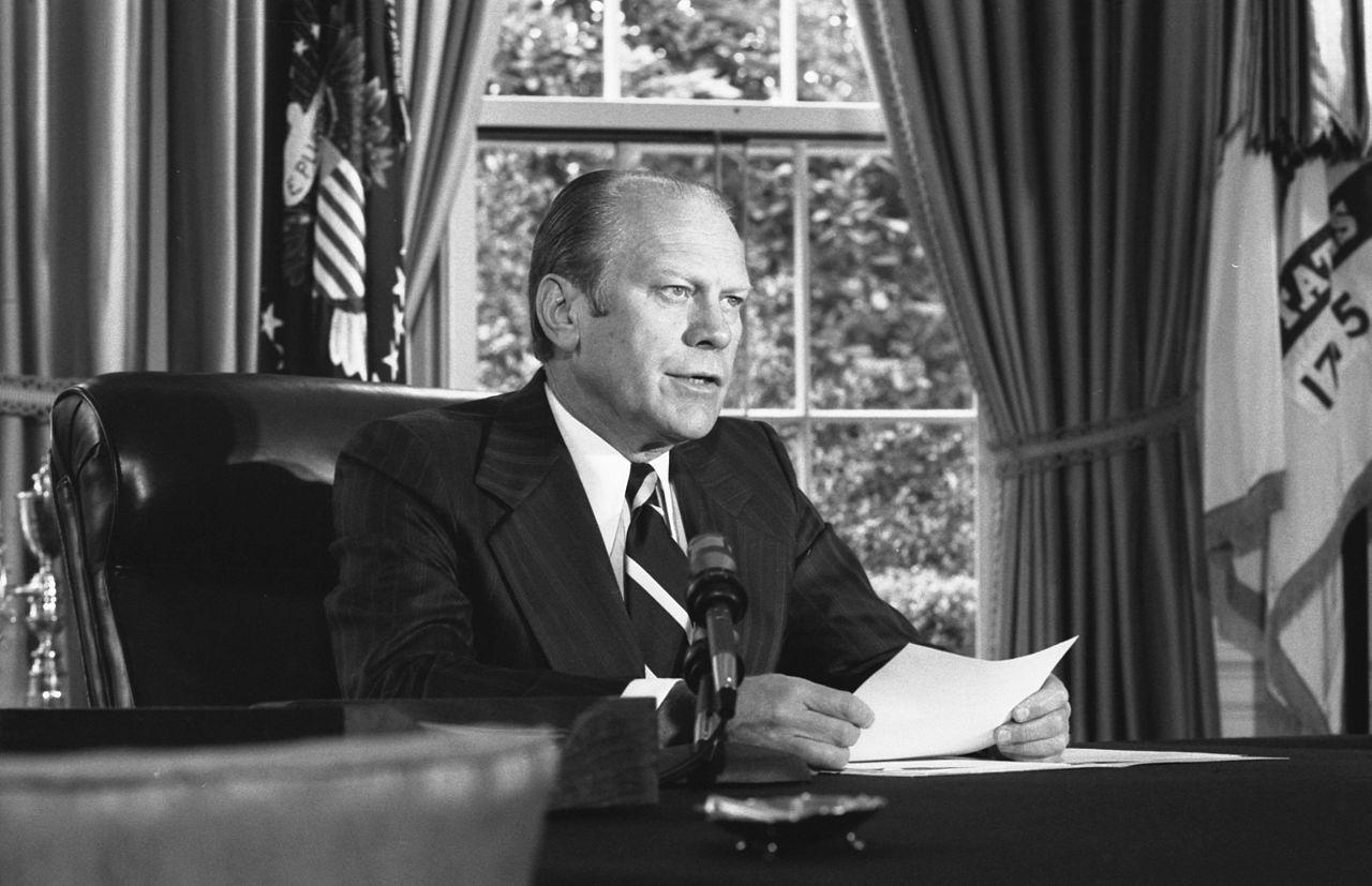Gerald Ford pardoned Nixon