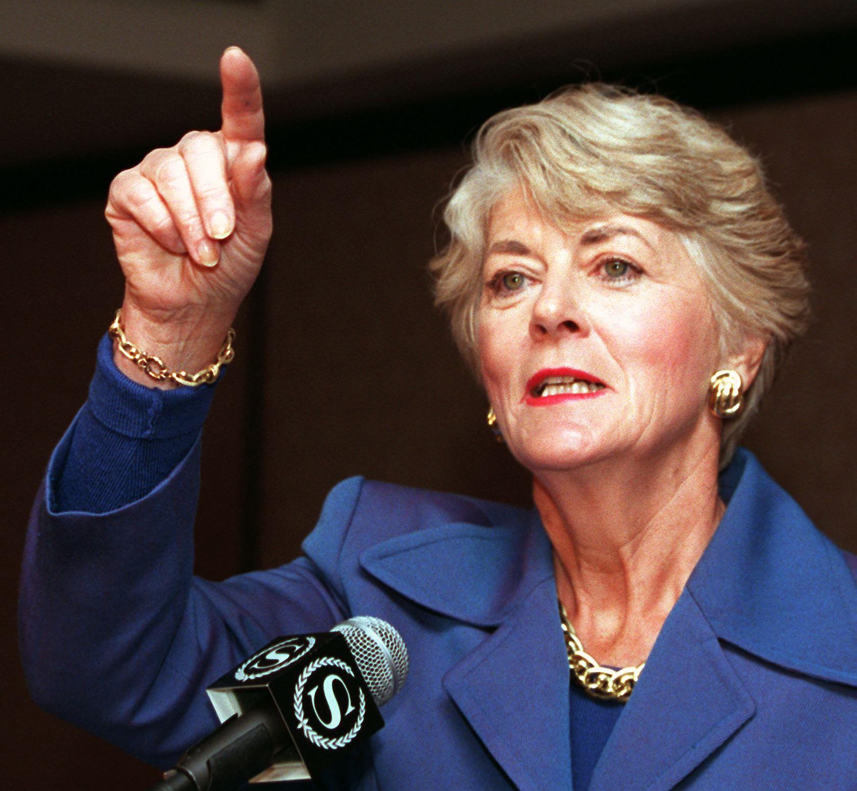 Former Democratic vice presidential candidate Geraldine Ferraro