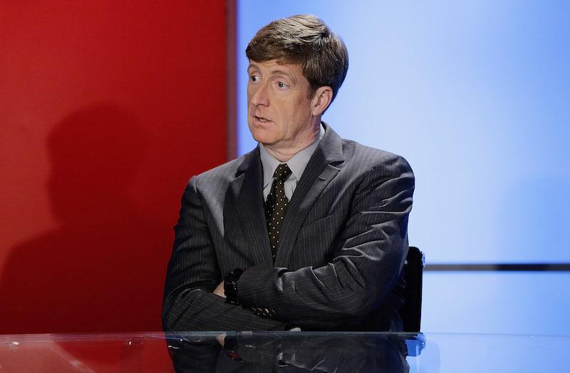 "NEW YORK, NY - OCTOBER 06: Former Congressman of Rhode Island Patrick J. Kennedy visits FOX News' ""America's Newsroom"" at FOX Studios on October 6, 2015 in New York City. (Photo by John Lamparski/Getty Images)"