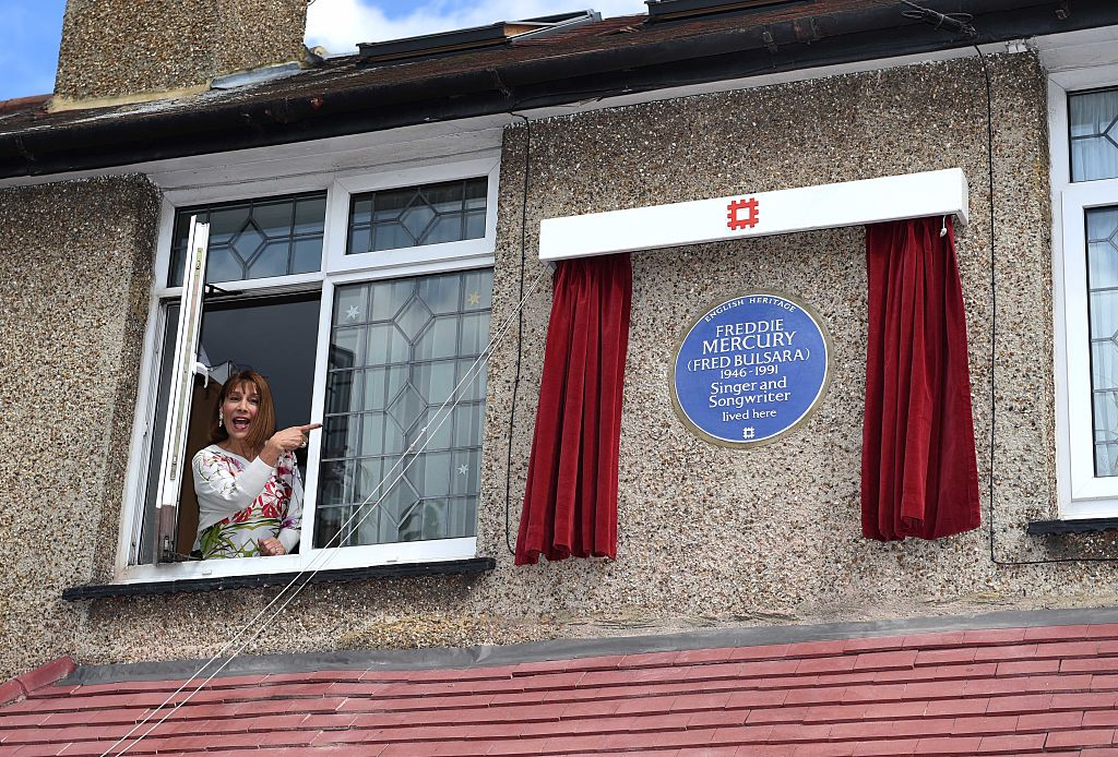 Kashmira Cooke (Freddie Mercury's sister) attends the unveiling of an English Heritage Blue Plaque, commemorating where Freddie Mercury lived on September 1, 2016 in Feltham, England.