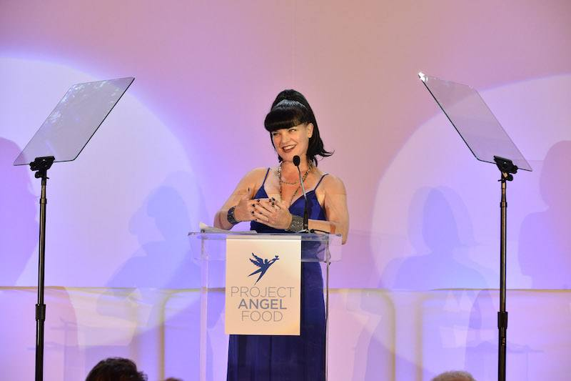 LOS ANGELES, CA - SEPTEMBER 17: Pauley Perrette attends the Project Angel Food's Angel Awards 2016 Honoring Lisa Rinna, Mitch O'Farrell & Joseph Mannis, ESQ on September 17, 2016 in Los Angeles, California. (Photo by Araya Diaz/Getty Images for Project Angel Food)