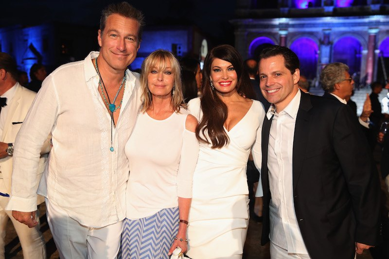 ROME, ITALY - SEPTEMBER 10: (L-R) John Corbett, Bo Derek, Kimberly Guilfoyle and Anthony Scaramucci attend the Closing Night Gala at Cinecittà as part of the 2017 Celebrity Fight Night in Italy Benefiting The Andrea Bocelli Foundation and the Muhammad Ali Parkinson Center on September 10, 2017 in Rome, Italy. (Photo by Jonathan Leibson/Getty Images for Celebrity Fight Night)