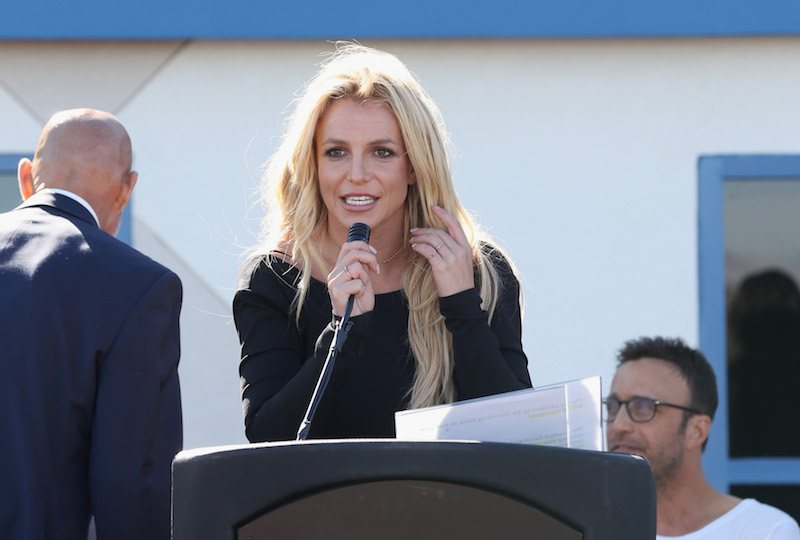 LAS VEGAS, NV - NOVEMBER 04: Singer Britney Spears speaks during the grand opening of the Nevada Childhood Cancer Foundation Britney Spears Campus on November 4, 2017 in Las Vegas, Nevada. (Photo by Gabe Ginsberg/Getty Images)