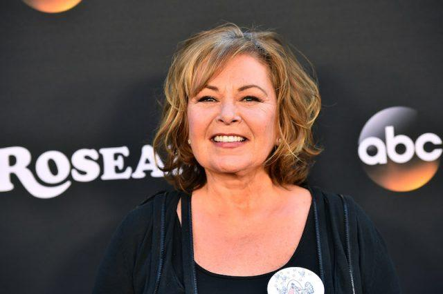 Roseanne Barr on a red carpet.
