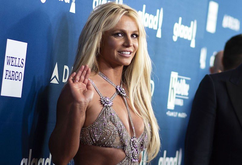 Singer Britney Spears attends the 29th Annual GLAAD Media Awards at the Beverly Hilton on April 12, 2018 in Beverly Hills, California. / AFP PHOTO / VALERIE MACON (Photo credit should read VALERIE MACON/AFP/Getty Images)