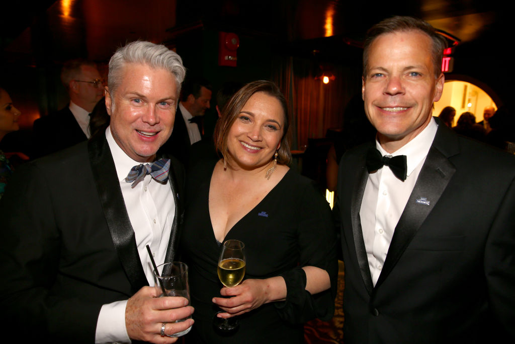 Stewart Scott, Margret Talev and Ted Johnson attend the Celebration After the White House Correspondents' Dinner.