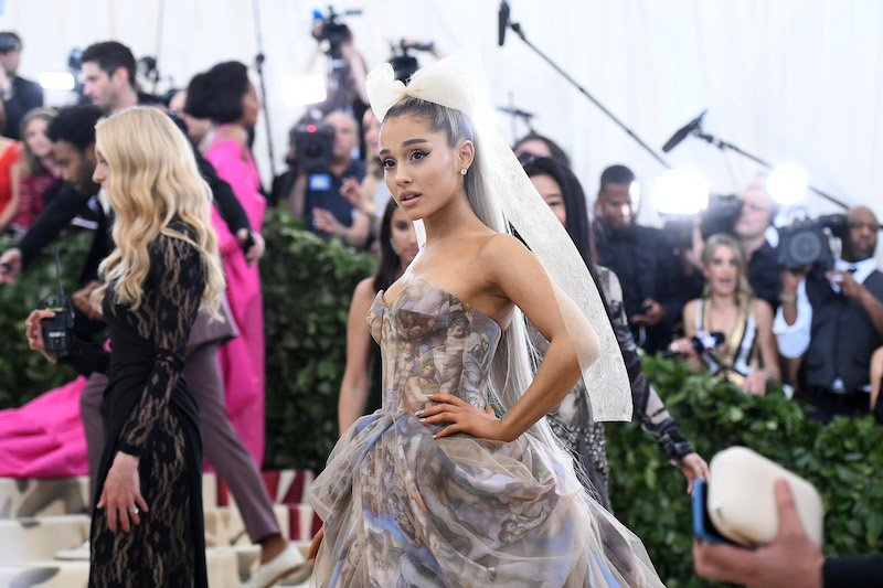 NEW YORK, NY - MAY 07: Recording artist Ariana Grande attends the Heavenly Bodies: Fashion & The Catholic Imagination Costume Institute Gala at The Metropolitan Museum of Art on May 7, 2018 in New York City. (Photo by Noam Galai/Getty Images for New York Magazine)