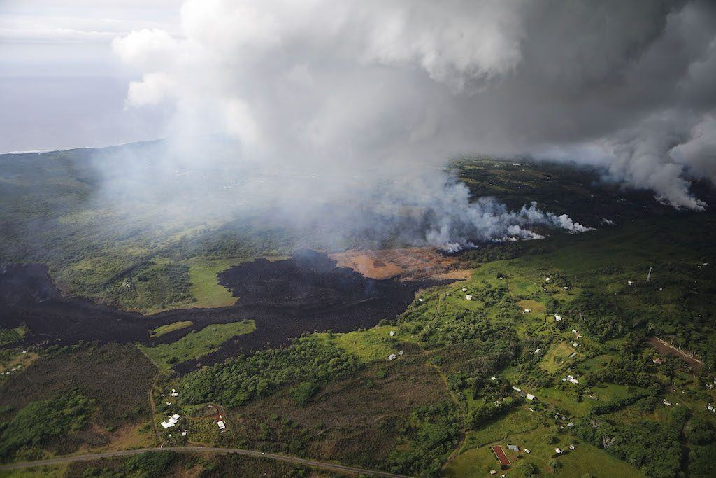 Eruptive activity from the Kilauea volcano