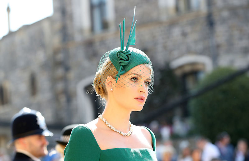 Kitty Spencer arrives arrives for the wedding ceremony of Britain's Prince Harry, Duke of Sussex and US actress Meghan Markle at St George's Chapel, Windsor Castle, in Windsor, on May 19, 2018. (Photo by Gareth Fuller / POOL / AFP) (Photo credit should read GARETH FULLER/AFP/Getty Images)
