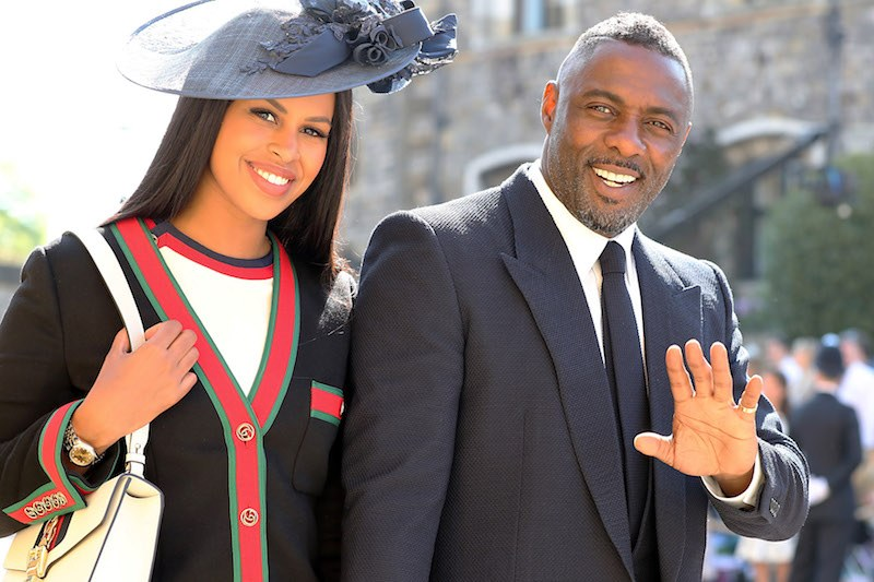 WINDSOR, UNITED KINGDOM - MAY 19: Idris Elba and Sabrina Dhowre arrive at St George's Chapel at Windsor Castle before the wedding of Prince Harry to Meghan Markle on May 19, 2018 in Windsor, England. (Photo by Gareth Fuller - WPA Pool/Getty Images)