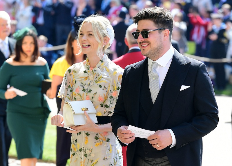 British musician Marcus Mumford and British actor Carey Mulligan arrive for the wedding ceremony of Britain's Prince Harry, Duke of Sussex and US actress Meghan Markle at St George's Chapel, Windsor Castle, in Windsor, on May 19, 2018. (Photo by Ian West / POOL / AFP) (Photo credit should read IAN WEST/AFP/Getty Images)