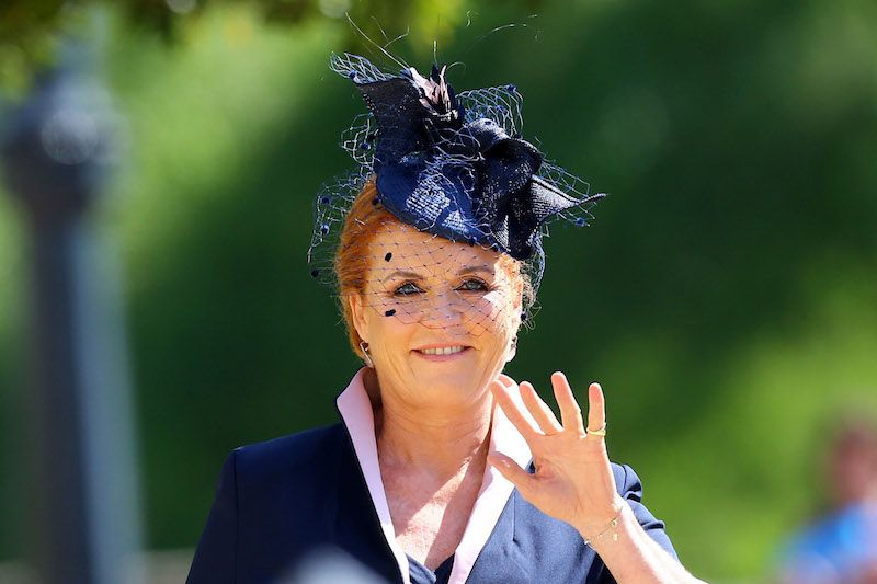 WINDSOR, UNITED KINGDOM - MAY 19: Sarah, Duchess of York arrives at St George's Chapel at Windsor Castle before the wedding of Prince Harry to Meghan Markle on May 19, 2018 in Windsor, England. (Photo by Gareth Fuller - WPA Pool/Getty Images)
