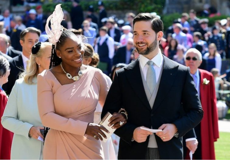 Serena Williams at the royal wedding of Meghan and Harry