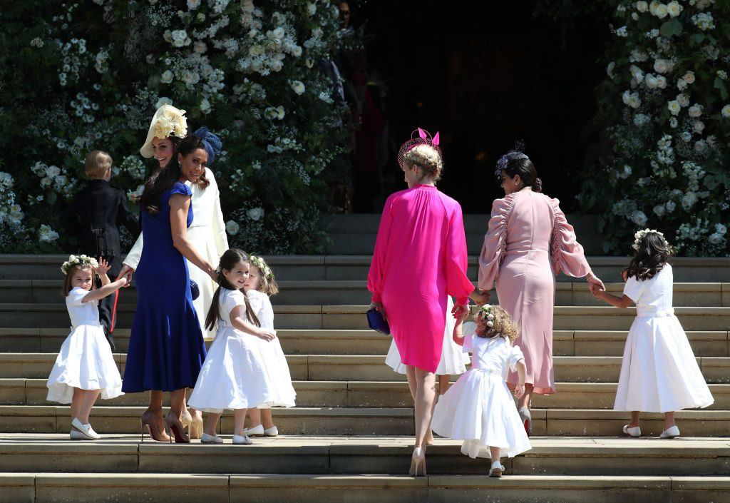 Meghan Markle and her bridesmaids.