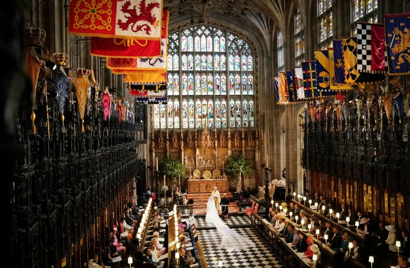 Meghan Markle and Prince Harry on wedding day