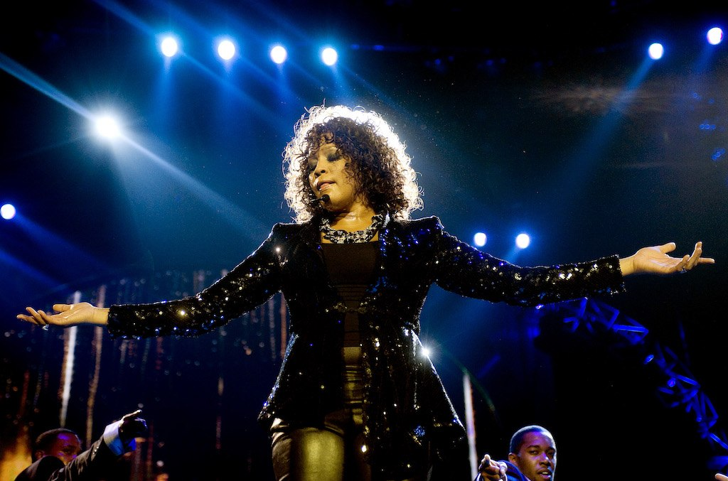 Whitney Houston performs at the O2 Arena on April 25, 2010 in London, England.