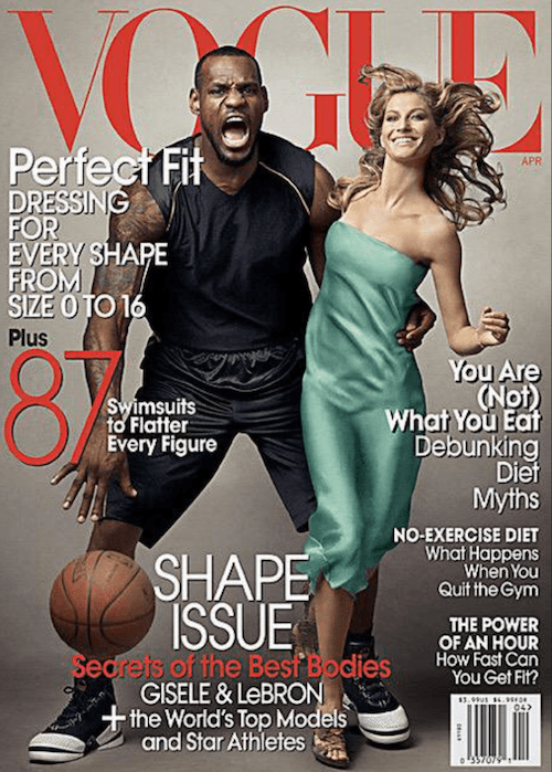 Giselle and Lebron's Vogue cover.
