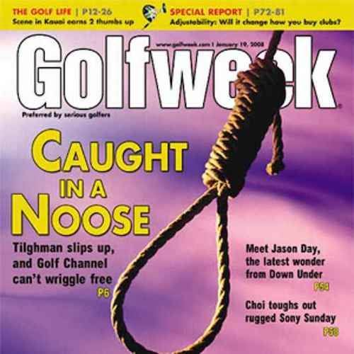Golf Weekly magazine cover.