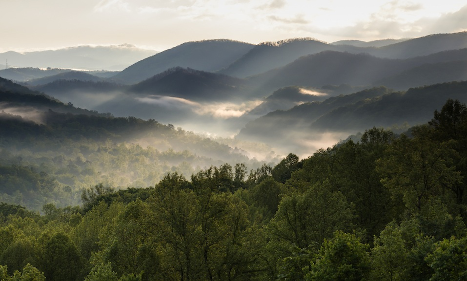 Mountains from Great Smokey Mountains National Park