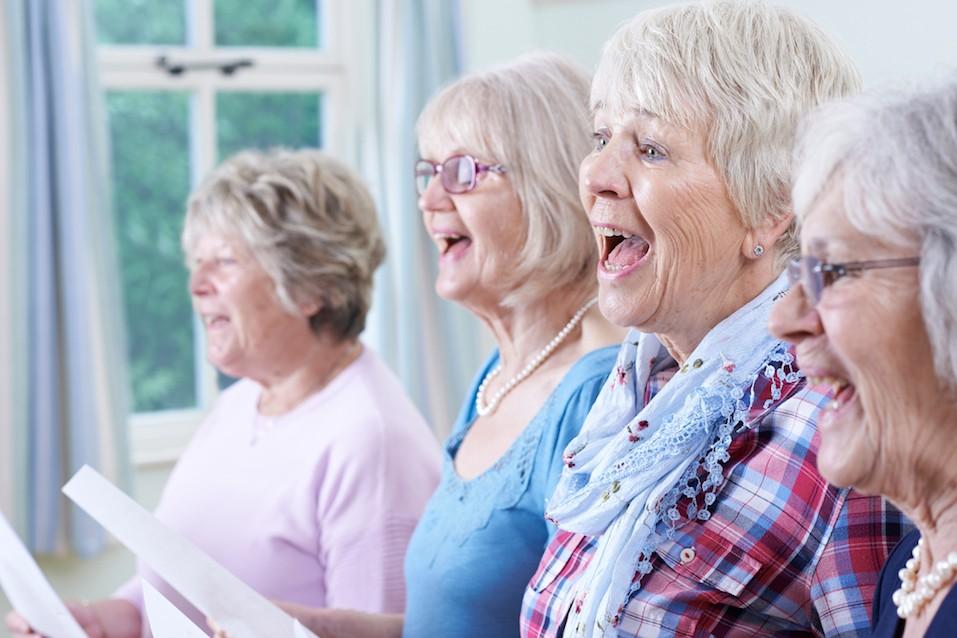 Senior Women Singing In Choir Together