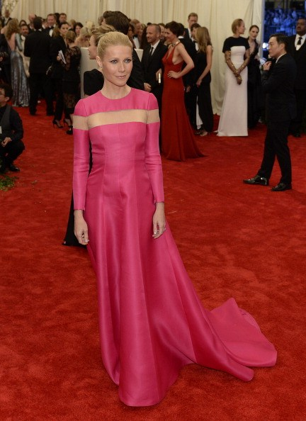 Actress Gwyneth Paltrow arrives at the Metropolitan Museum of Art's Costume Institute Gala