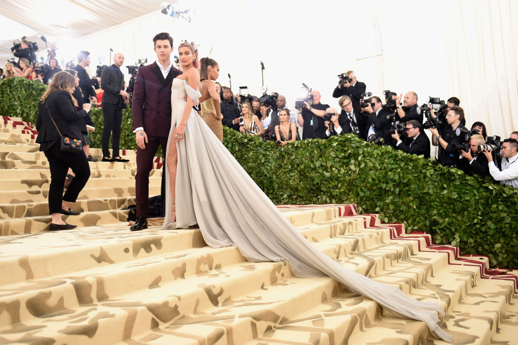 Shawn Mendes and Hailey Baldwin Met Gala Heavenly Bodies: Fashion & The Catholic Imagination Costume Institute Gala - Arrivals