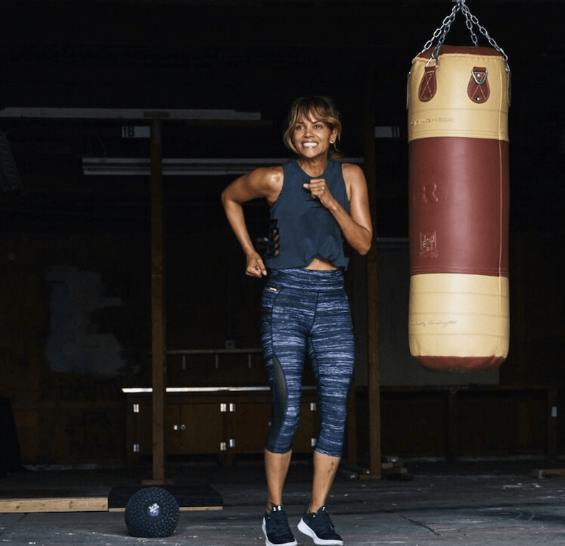 Judo and kickboxing are involved in Halle Berry's daily life.