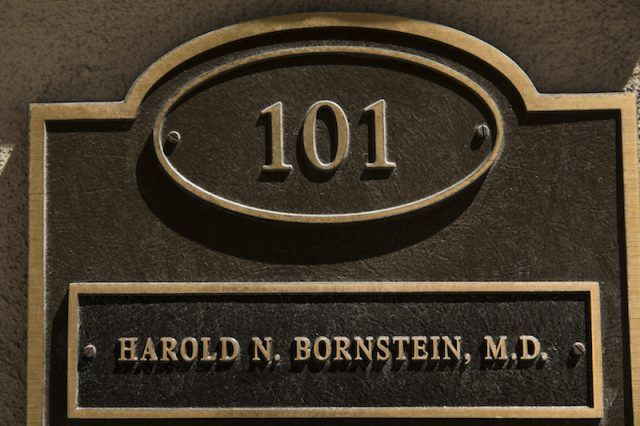 Dr. Bornstein's office door.