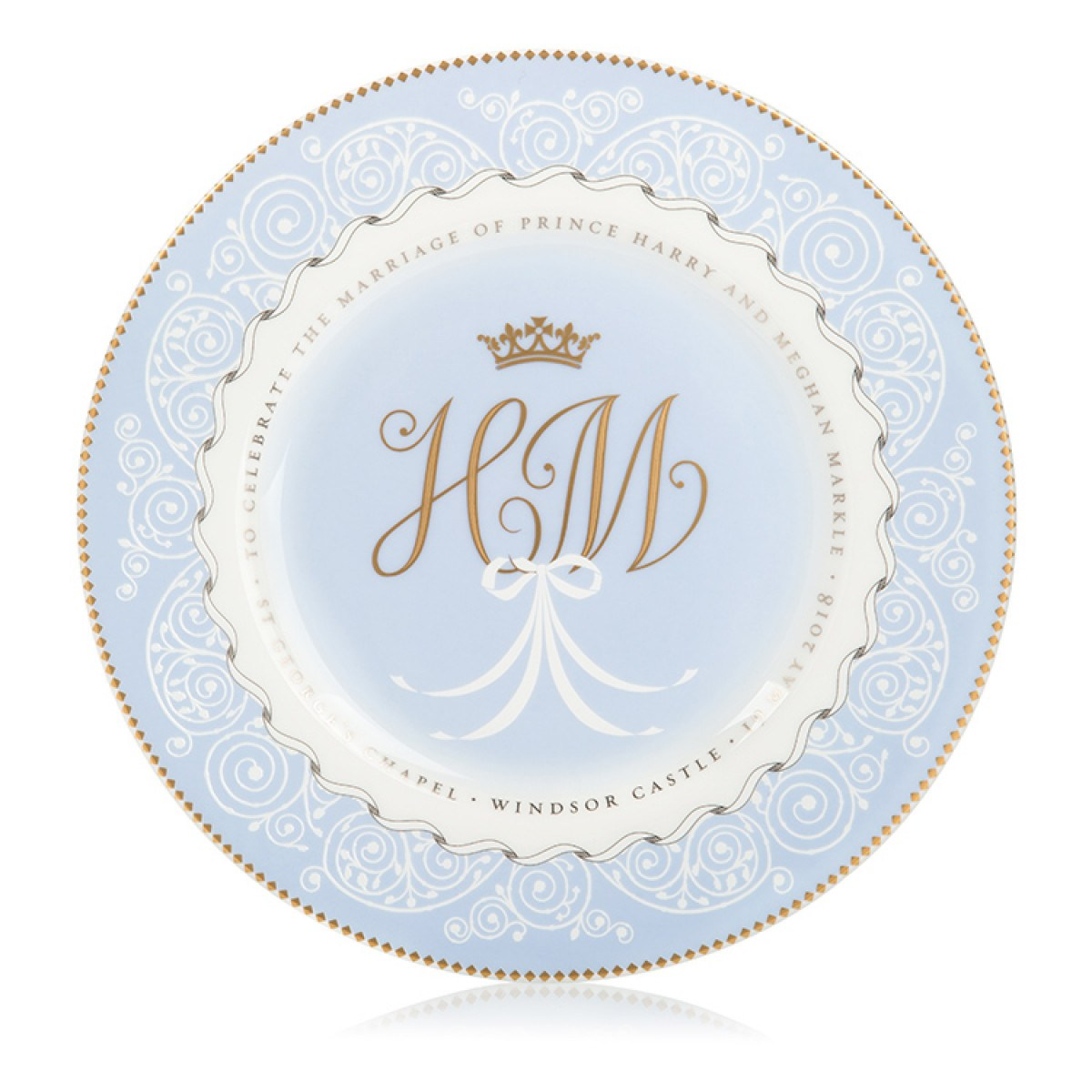 Prince Harry and Meghan Markle plate