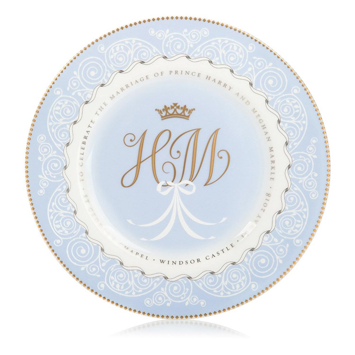 Prince Harry and Meghan Markle plate