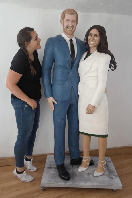 Life-size Prince Harry and Meghan Markle Cake with creator Lara Mason