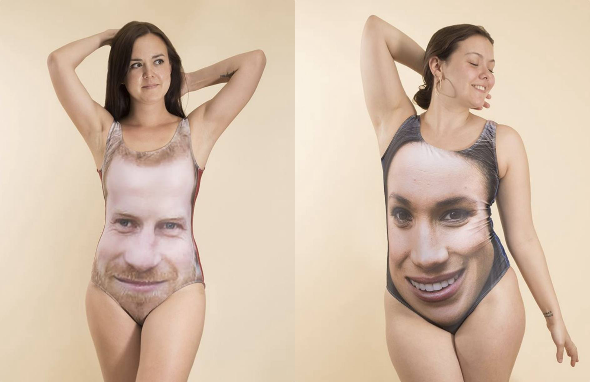 Harry and Meghan swimsuits