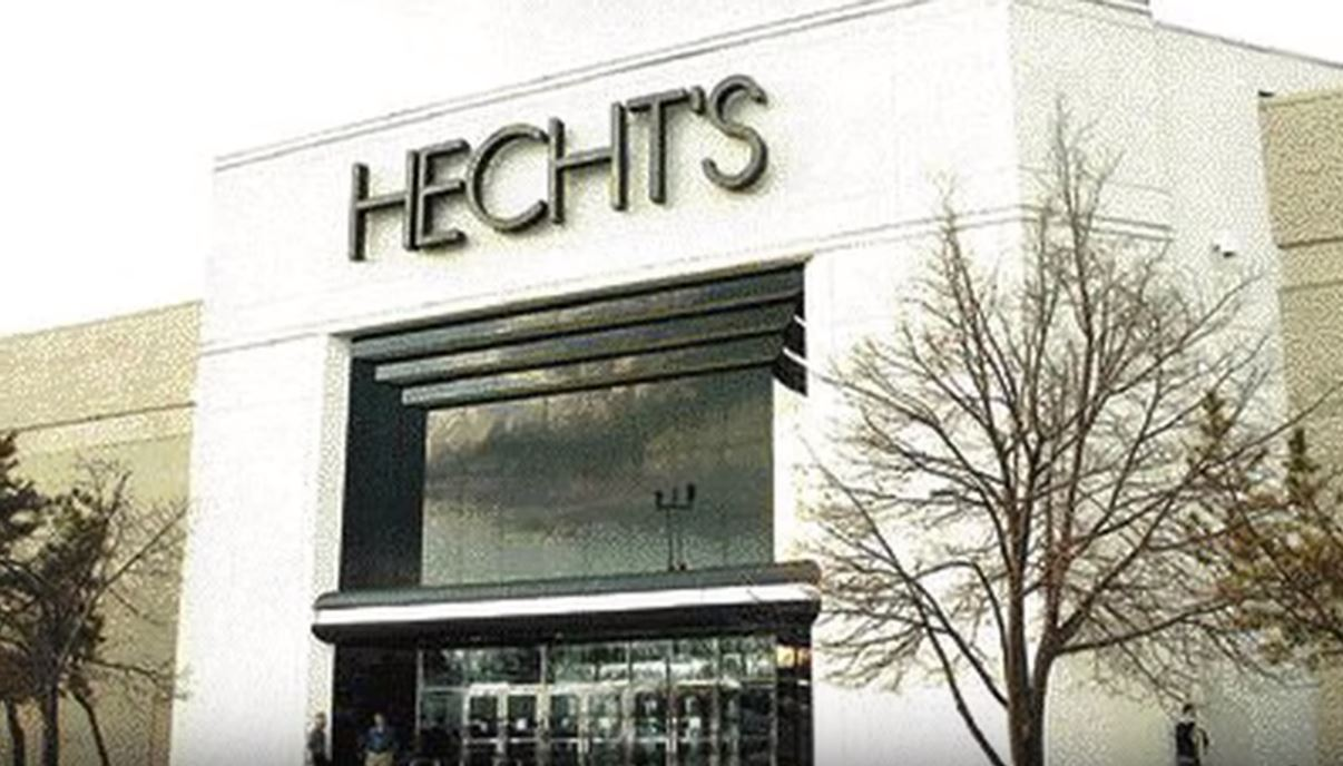 A picture of a former Hecht's Department Store location