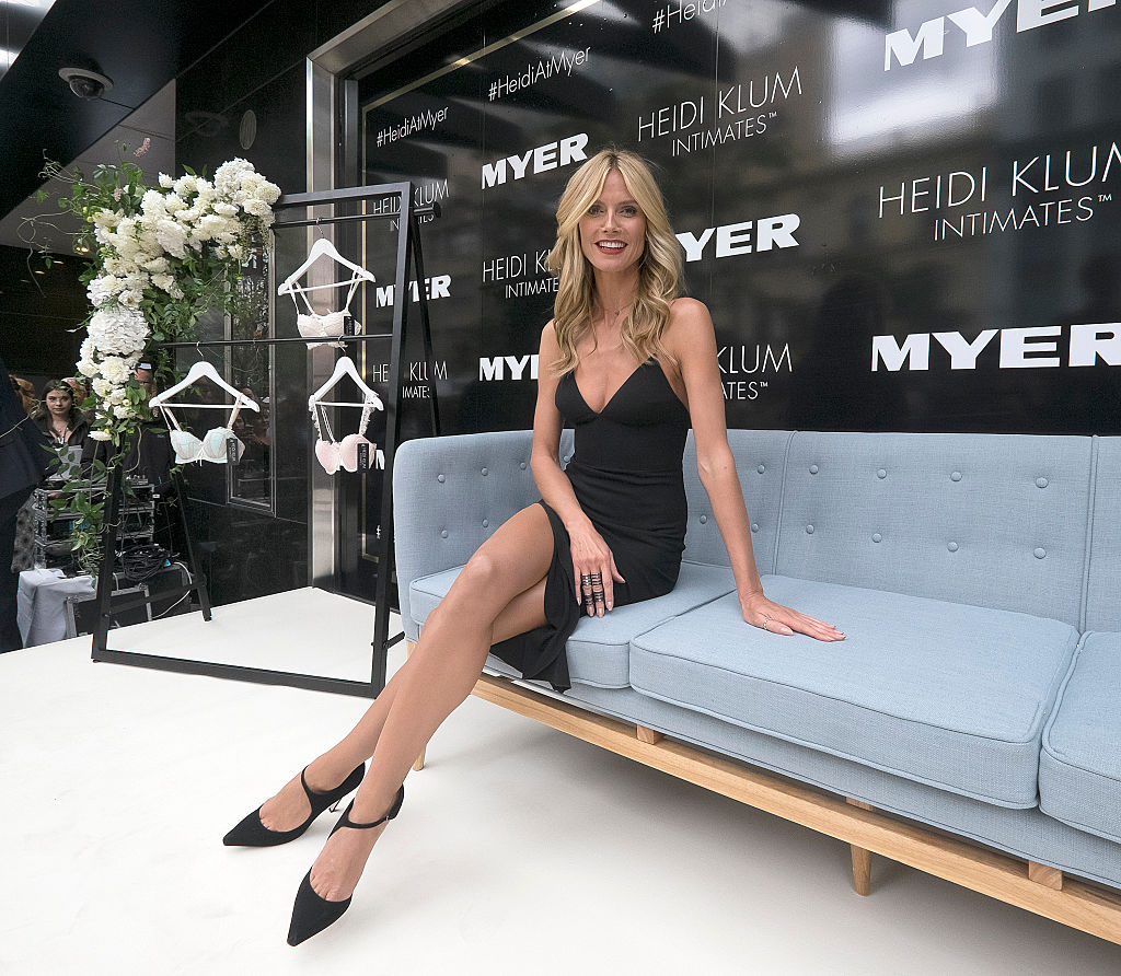 Heidi Klum Attends Her Intimates Collection Launch At Myer