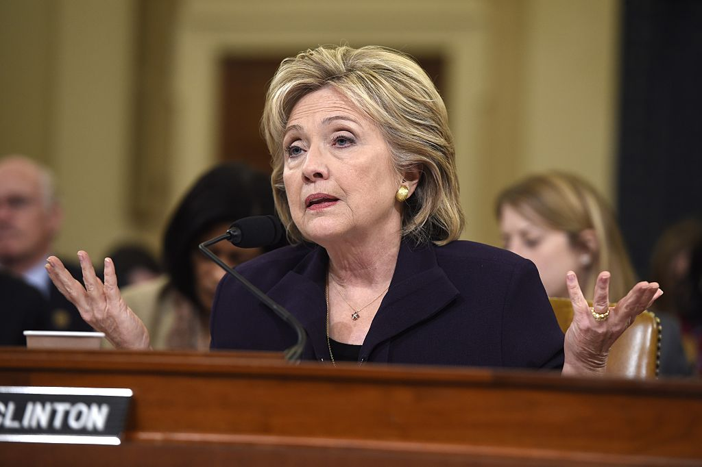 Hillary Clinton during Benghazi questioning
