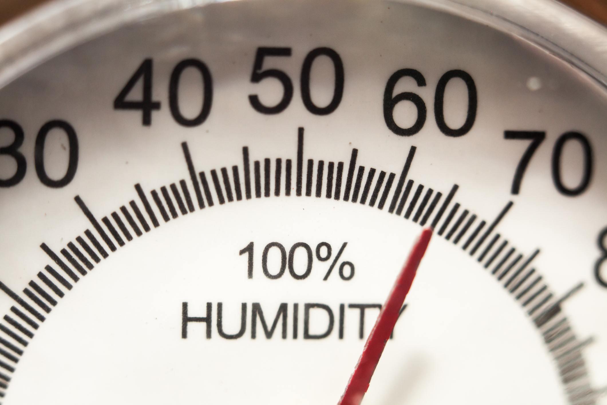 Humidity index gauge