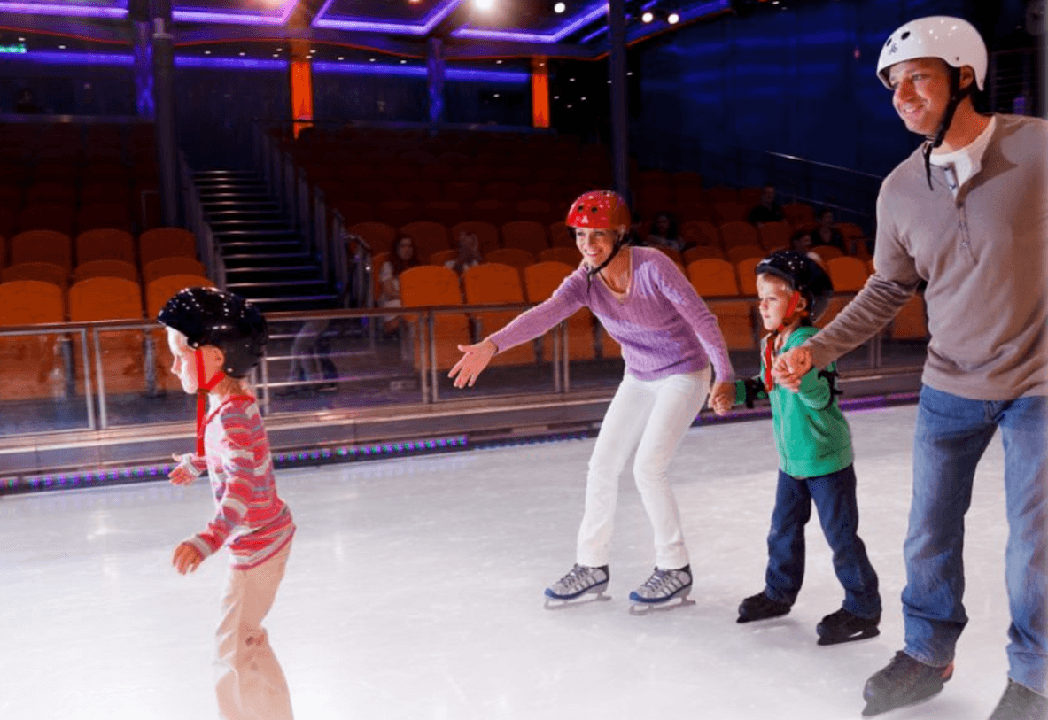 Ice skating royal caribbean