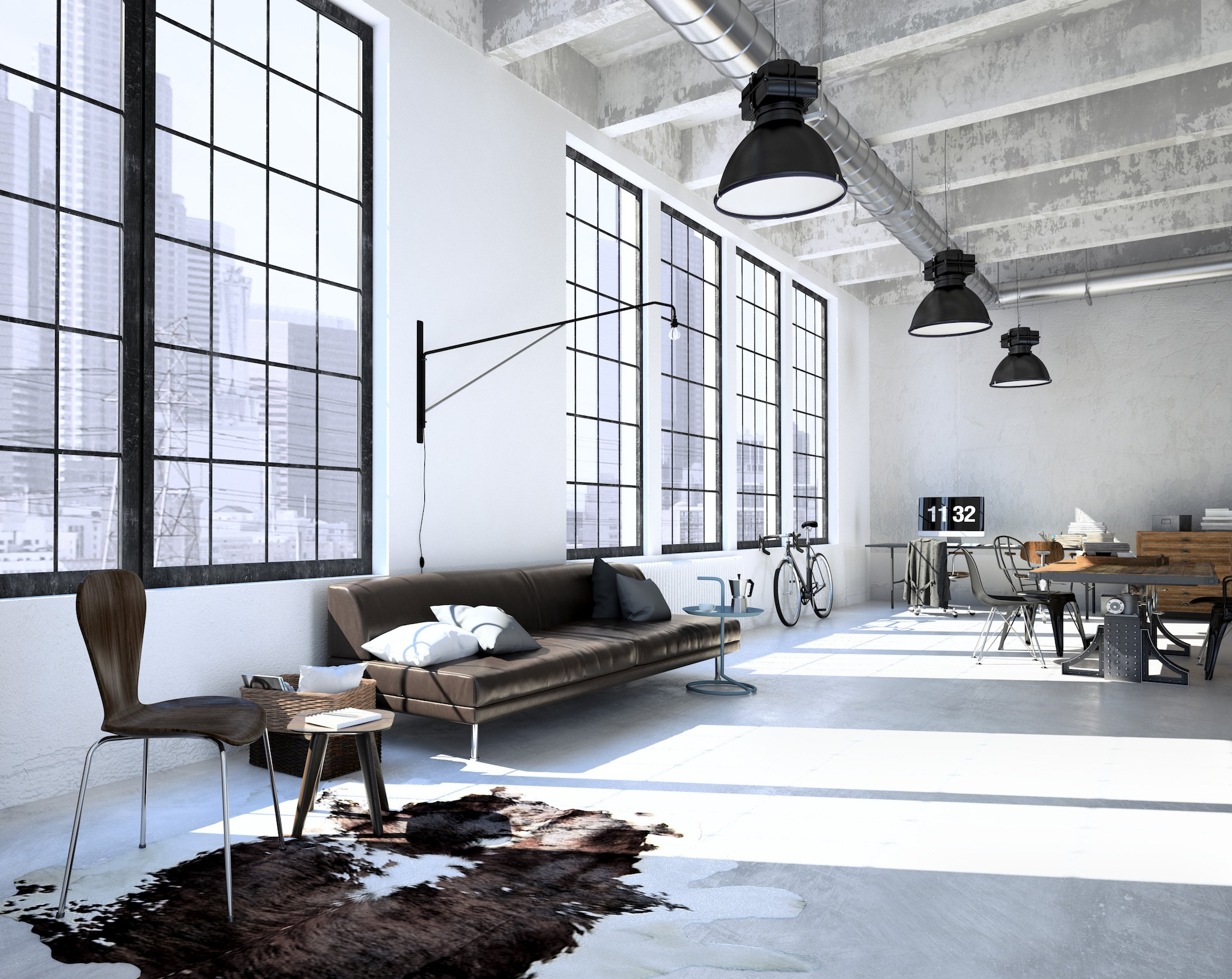 Industrial modern loft